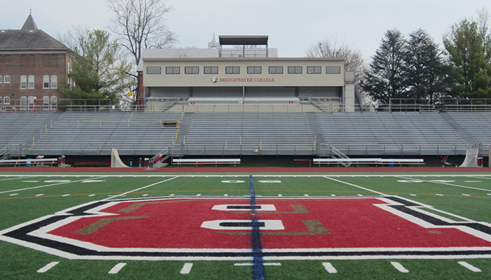 view of the bleachers from midfield