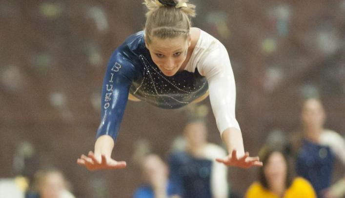 Blugold Gymnasts Defeat UW-Stout at Home