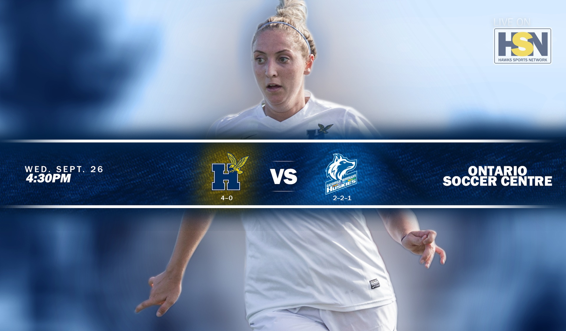 No. 4 WOMEN'S SOCCER WELCOMES GEORGE BROWN WEDNESDAY