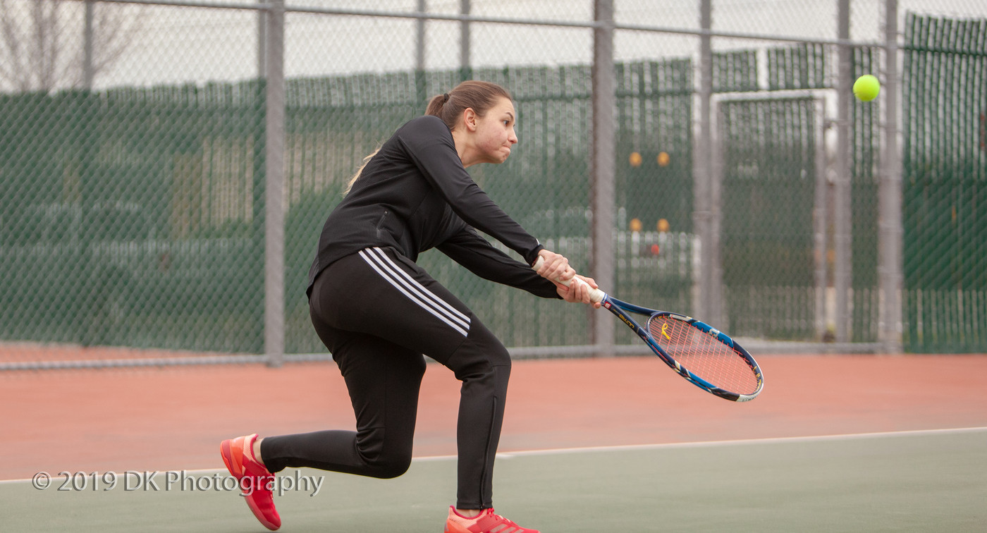 Guslistova wins her singles match against Sequoias on Tuesday, but the Panthers lose to the Giants 8-1