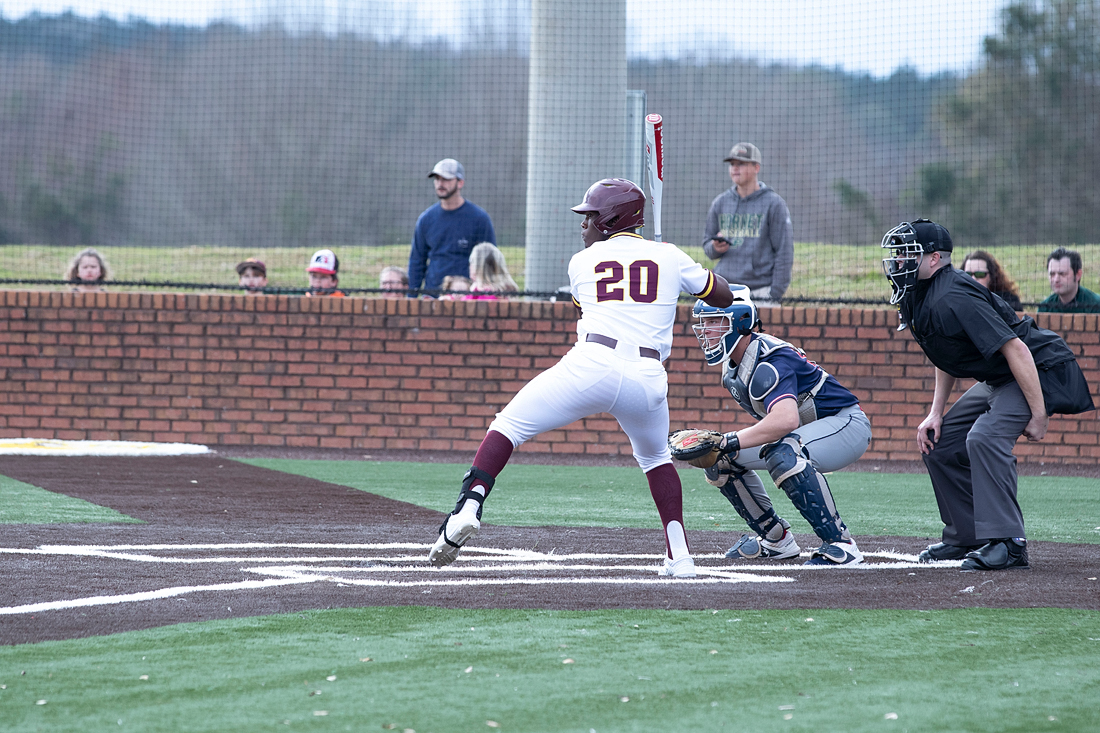 No. 8 Pearl River opened the 2019 season at the newly renovated Dub Herring Park in Poplarville, Miss., on Sunday, Feb. 10, 2019, against Jefferson College. The Wildcats and Vikings split the doubleheader, with JC winning 5-3 in 13 innings and then PRCC won 5-4 in a walk-off in Game 2. (KRISTI HARRIS/PRCC ATHLETICS)