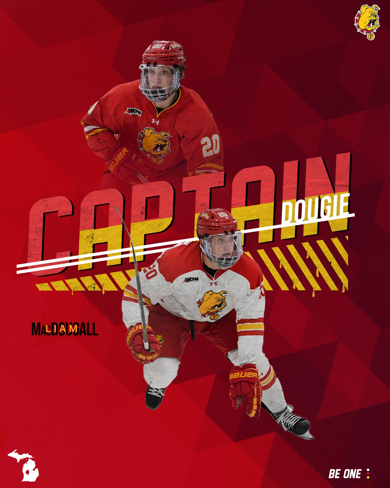 MacDougall Named Captain Of Ferris State Hockey Team