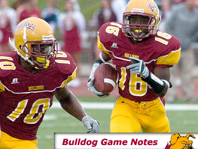Freshman Troy McClary (#16) runs while David Freeman (#10) blocks for FSU (Photo by Ed Hyde)