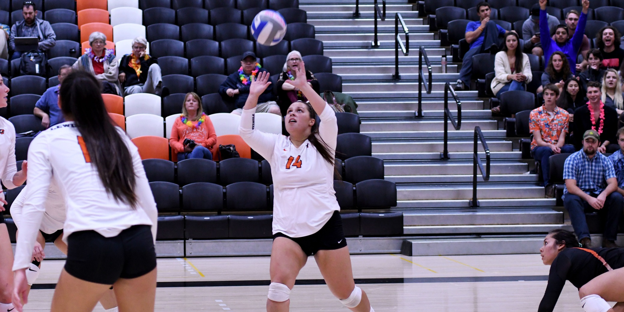 Pioneers rally to beat Willamette in four sets