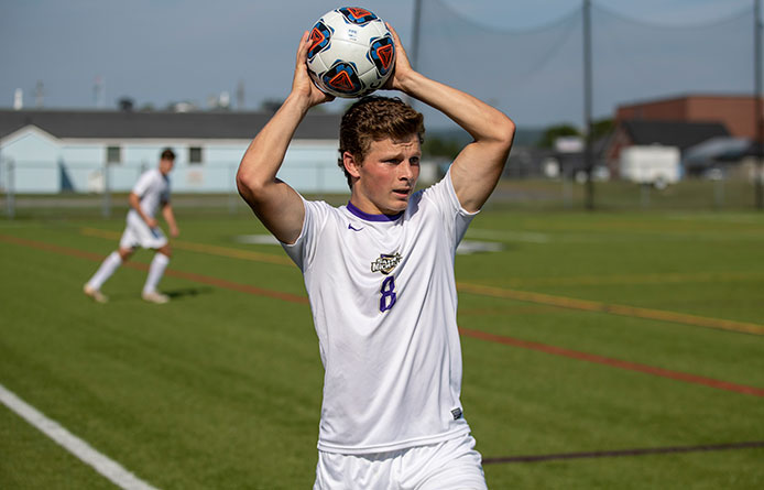 Men's Soccer Opens NE10 Play with Loss at No. 6 Merrimack