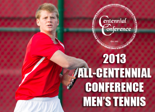 Senior Will Golinkin was named to the All-Centennial Conference Men's Tennis Team for the second straight season<BR>