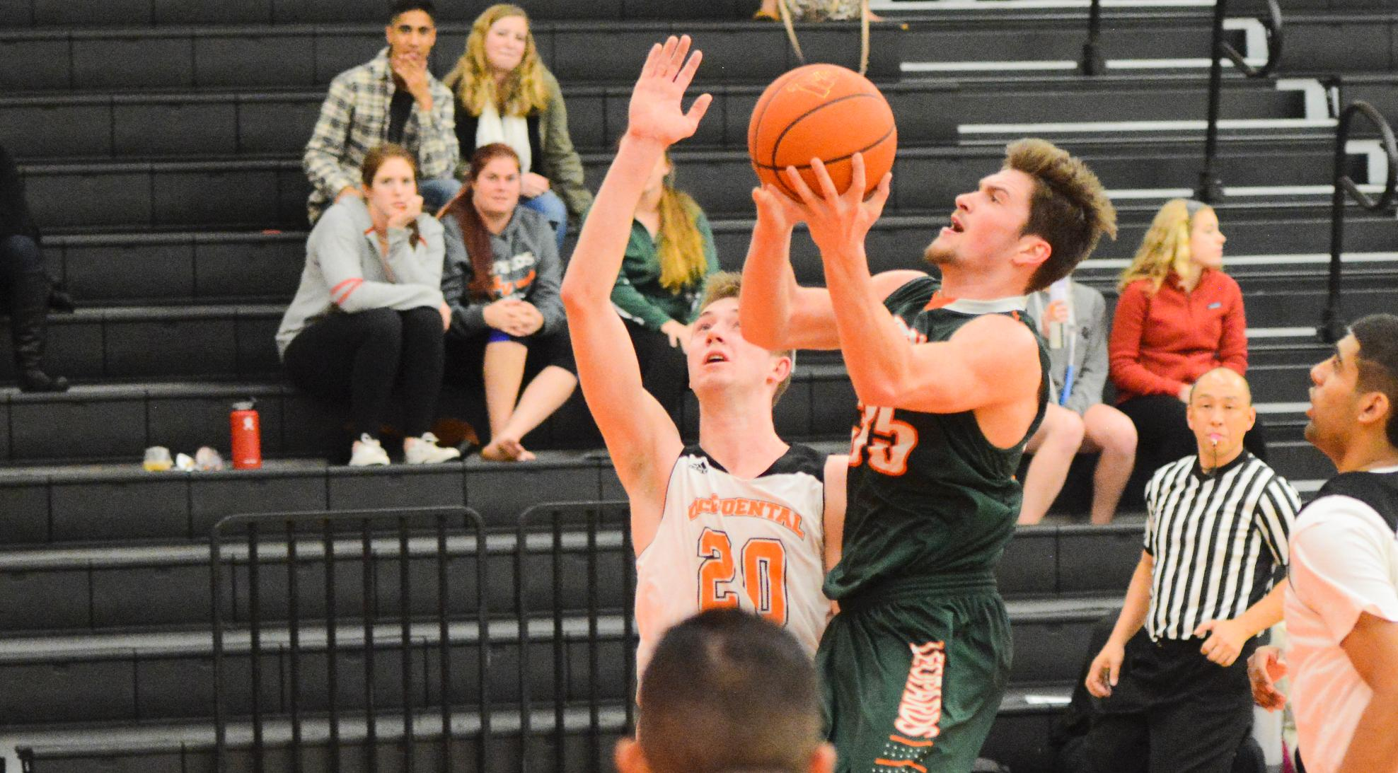 Men's Basketball squeaks out OT win at Oxy