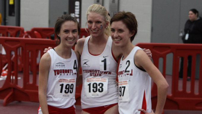YSU was first, second and third in the 5,00-meter run highlighted by Samantha Hamilton's first-place finish.
