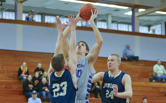 Junior forward Brendan Boken scored a game-high 23 points on 10 of 14 shooting from the field to lead the Royals to their second straight win, a 79-69 victory over Drew University in Landmark Conference action Wednesday evening in Madison, New Jersey