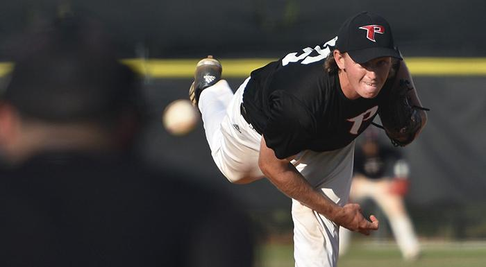 Justin Tworek earned the win as the Eagles defeated the Manatees 9-3. (Photo by Tom Hagerty, Polk State.)