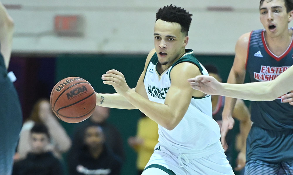 BIG DEFENSIVE EFFORT LEADS MEN'S HOOPS TO 59-56 WIN AT EASTERN WASHINGTON