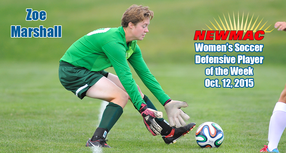 Marshall Earns Top NEWMAC Weekly Honors