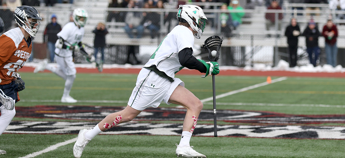 Baraniuk leads men's lacrosse to program's first home win, 13-4 over Cobleskill