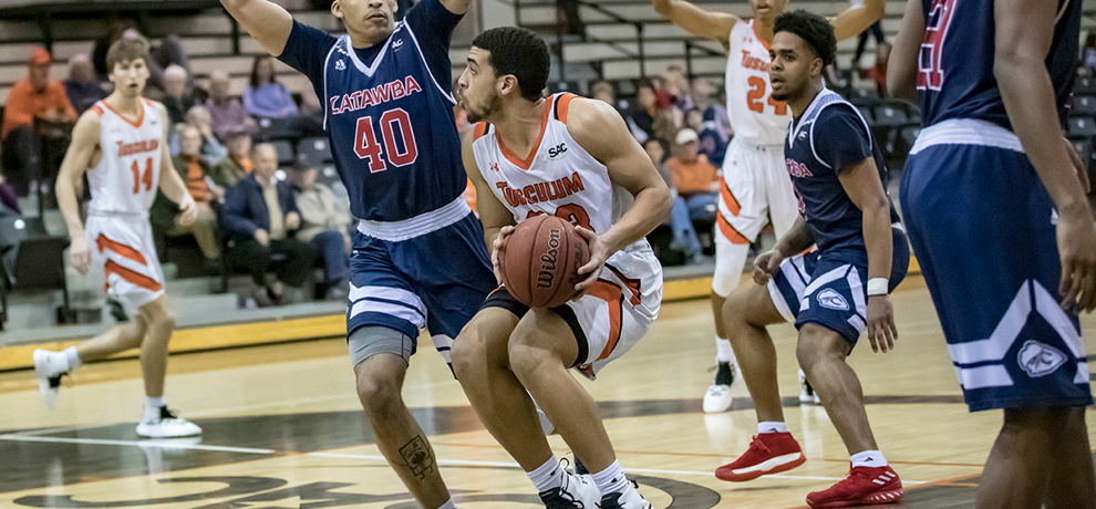 Tusculum has four-game home winning streak snapped in 72-55 loss to Catawba