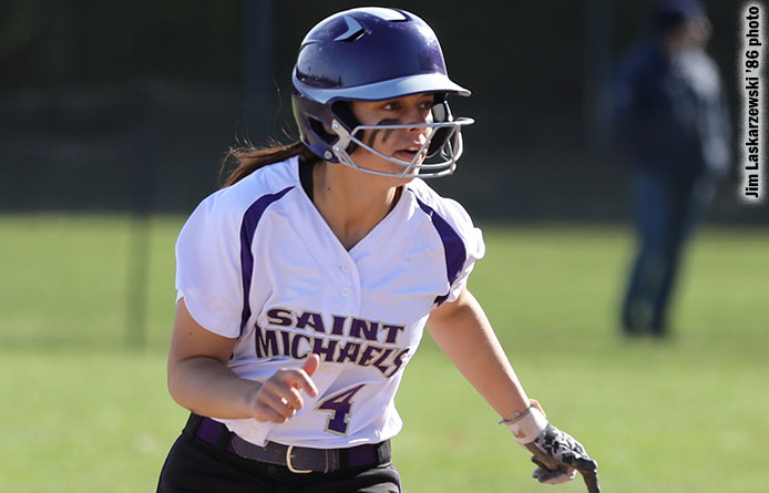 Softball sweeps second doubleheader with Franklin Pierce, moves into tie for fourth