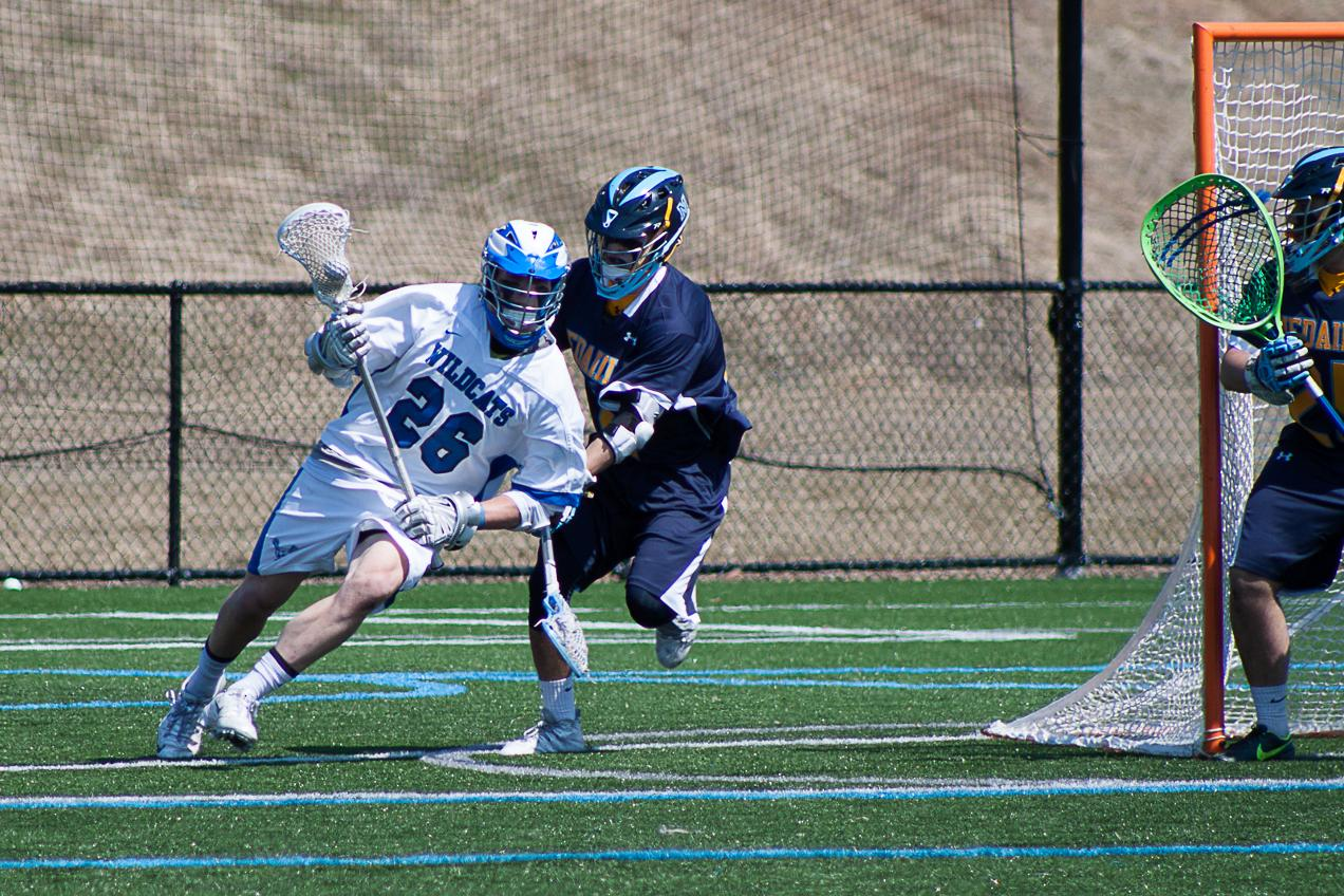 Men's Lacrosse Explodes for 51 Shots, Grabs First Win 13-8