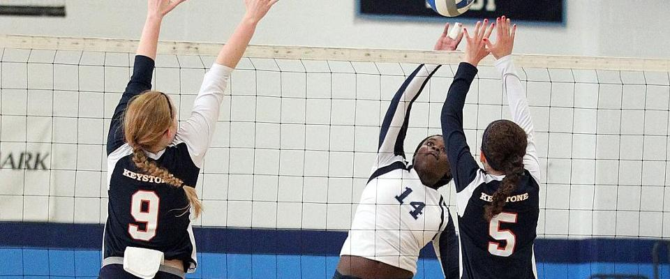 Allen's Career-Night Lifts Volleyball in Five
