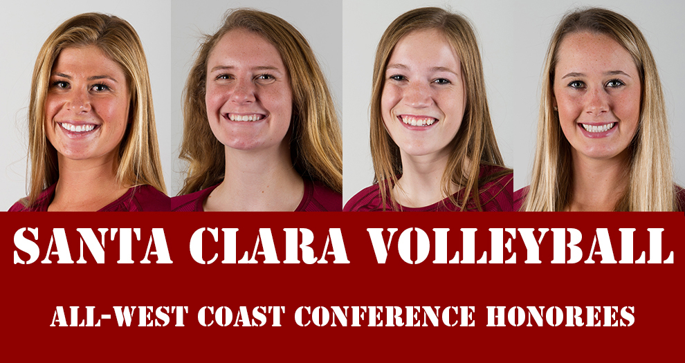 Four Volleyball Players Receive WCC Post-Season Honors