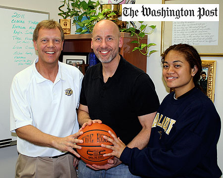 Coach Cook featured in sports column of Saturday's Washington Post