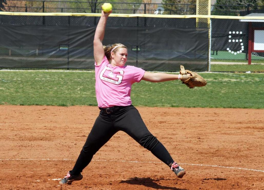 Burcham Throws Perfect Game in Guilford Sweep of Sweet Briar