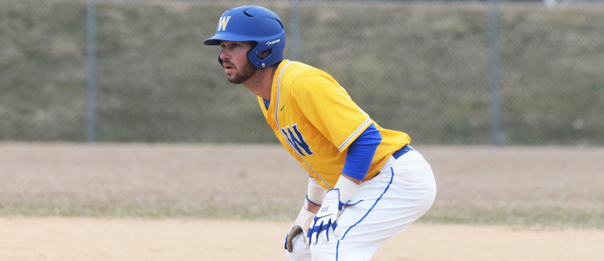 Senior Jared Rosenblatt drove in two runs in Western New England's 6-3 loss to UMass Boston on Thursday. (Photo by Rachael Margossian)