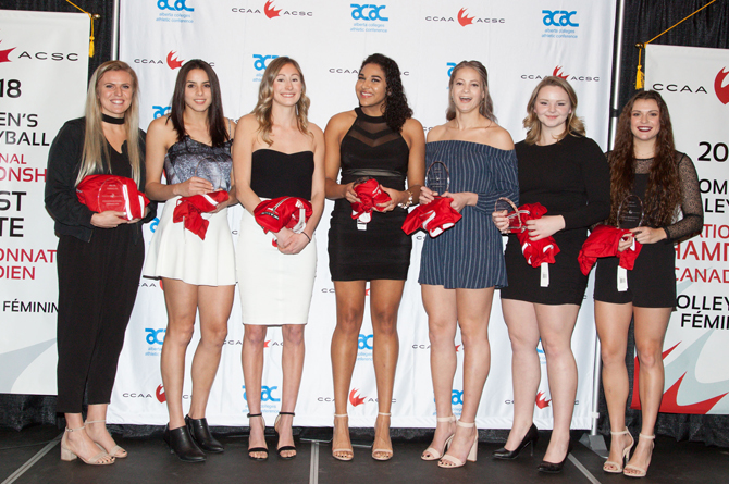 Athlètes par excellence pancanadiennes 2018 de l'ACSC en volleyball féminin
