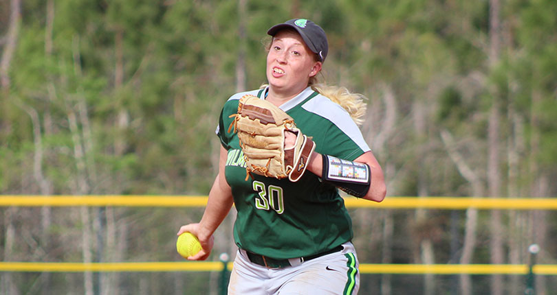 Game of firsts highlight @DubC_Softball split