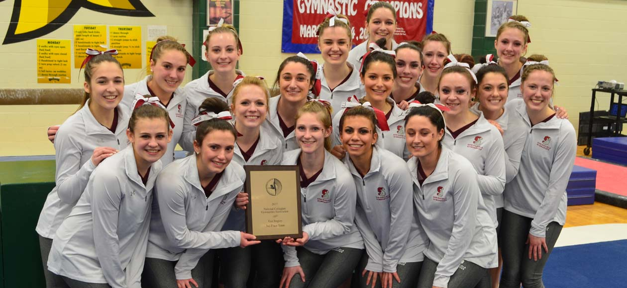 Women's Gymnastics Takes Third at NCGA East Regionals; Najuch Named Coach of the Year