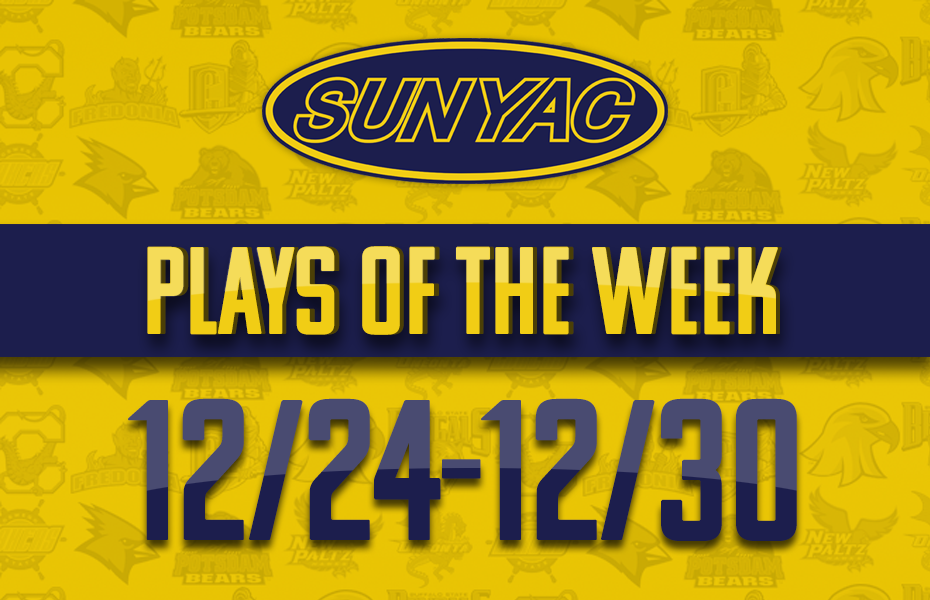 SUNYAC Winter Plays of the Week - Dec. 24-30