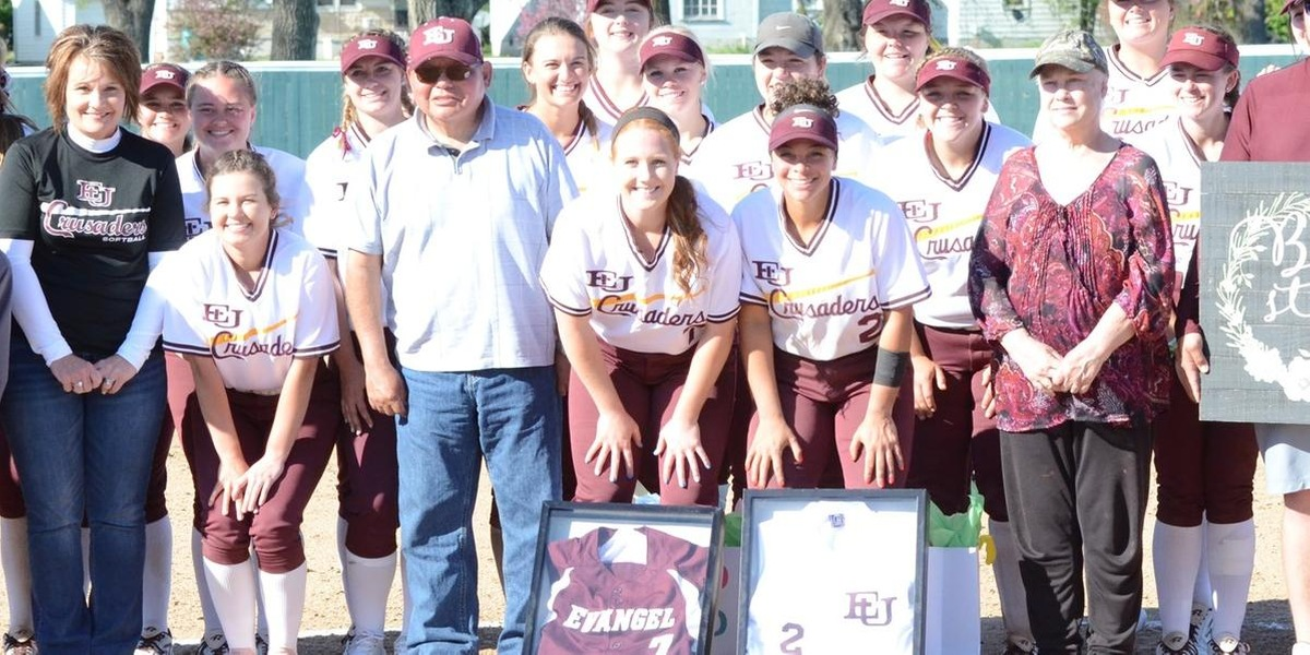 Walk Off Blast Helps Evangel Softball to Split with Benedictine