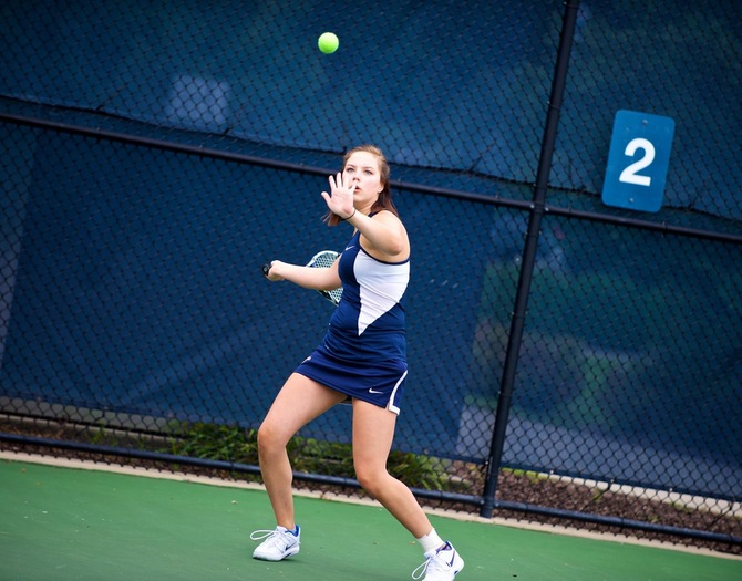 Women's Tennis Clinches Playoff Berth in 9-0 Win Over Sarah Lawrence