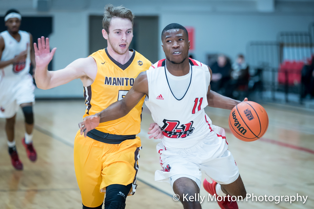 William Sesay had 11 points and six rebounds in the Wesmen win over Manitoba on Saturday night. (Kelly Morton photo)