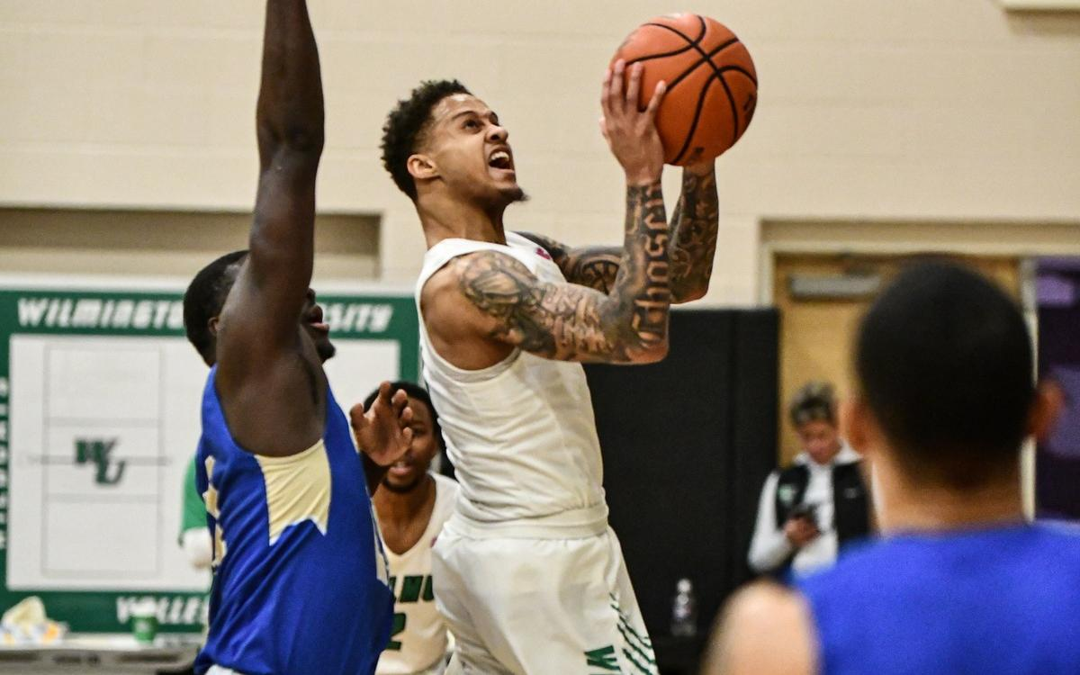 File photo of Jermaine Head who scored 33 points and added seven assists at Chestnut Hill. Copyright 2020; Wilmington University. All rights reserved. Photo by Gavin Bethell. January 8, 2020 vs. Georgian Court.