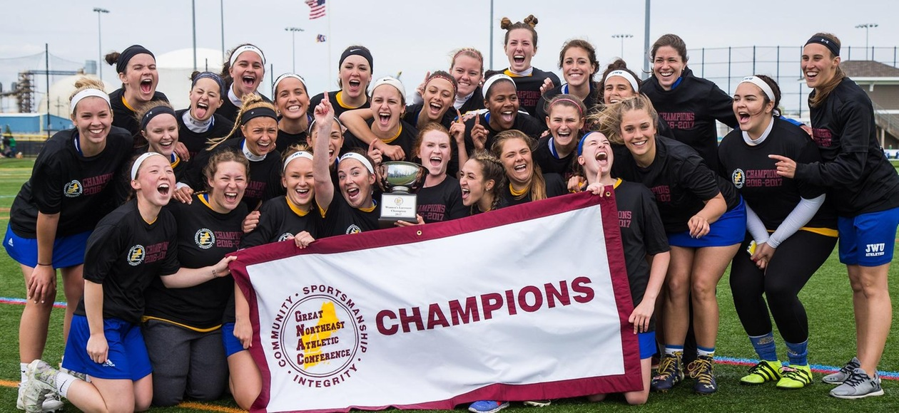 Champs! JWU Women's Lacrosse Beats Simmons 19-5 for First GNAC Title