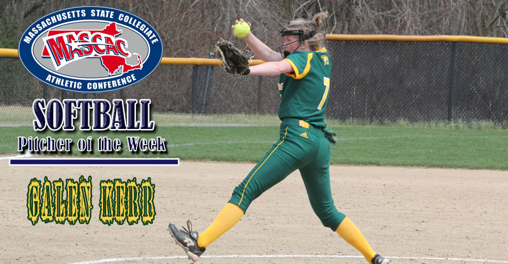 Kerr Tabbed MASCAC Softball Pitcher Of The Week
