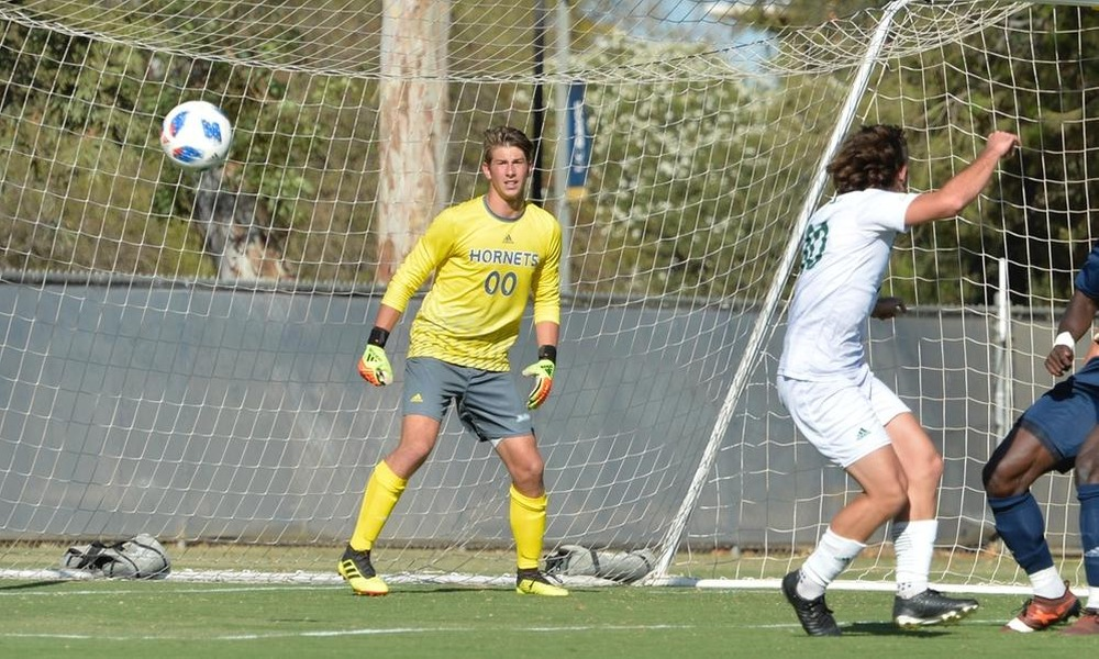 MEN'S SOCCER FALLS IN FIRST ROAD CONFERENCE MATCH, 2-0 AT UC IRVINE