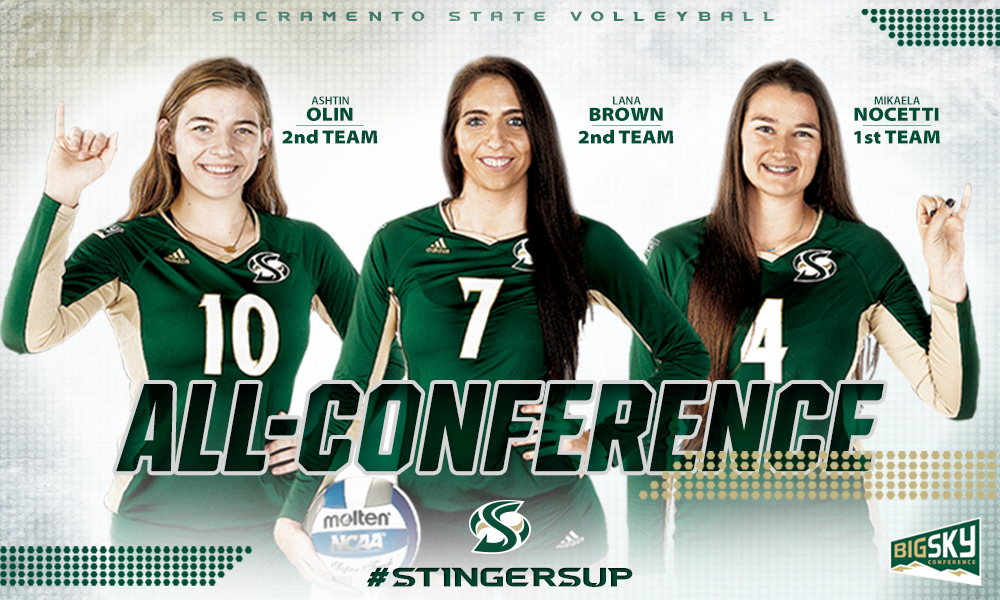 VOLLEYBALL ALL-CONFERENCE: NOCETTI NAMED FIRST TEAM, BROWN AND OLIN SECOND TEAM