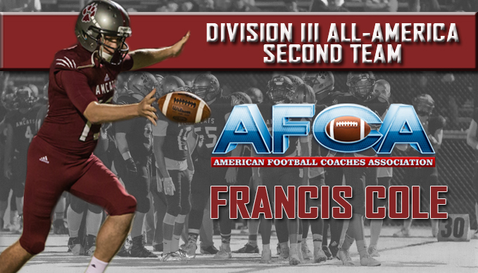 Francis Cole Named to Division III All-America Second Team
