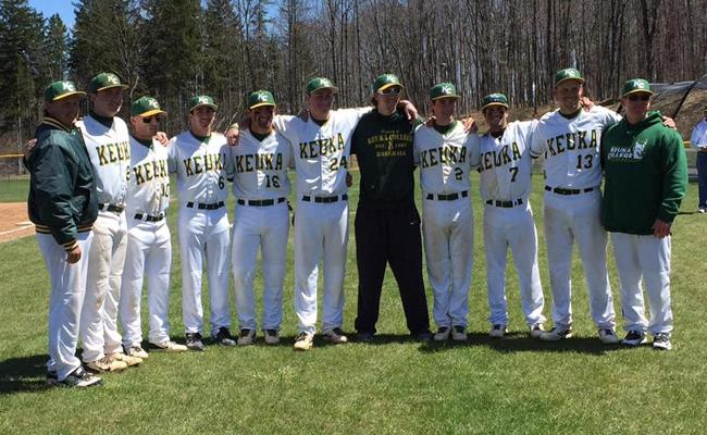 On Senior Day, Keuka College's baseball team was swept by SUNY Polytechnic by identical 4-2 scores.