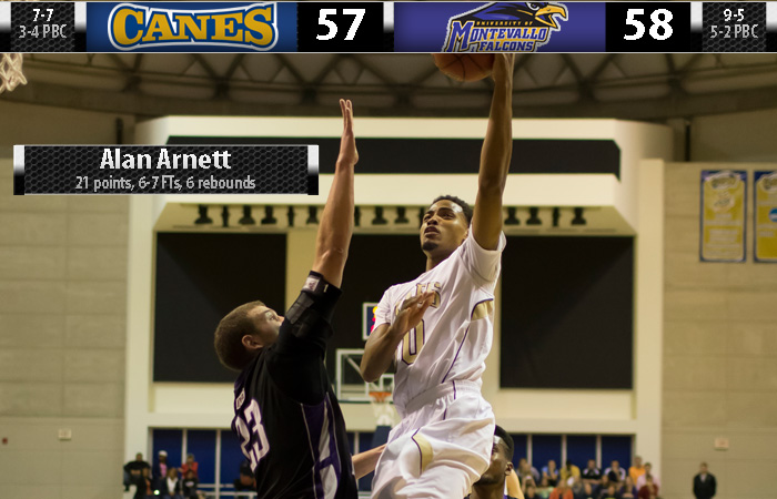 'Canes Spot Montevallo 17 Points, Miss Shot At Buzzer For Win