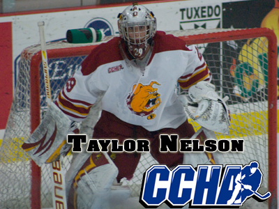 Nelson Selected CCHA Reebok Goaltender Of The Week