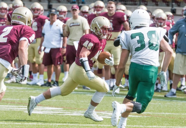 Football - Connor Bourque action vs. Plymouth State