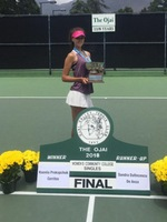 Kseniia Prokopchuk won the CCCAA singles and doubles state title