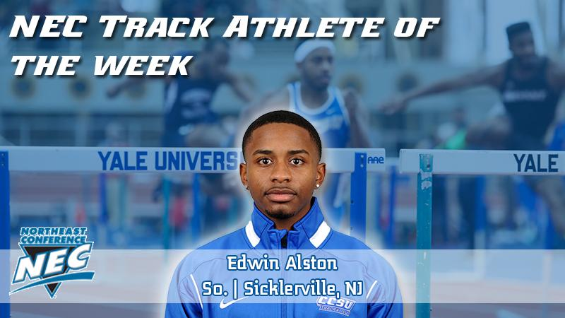 Alston Tabs NEC Track Athlete of the Week on Tuesday