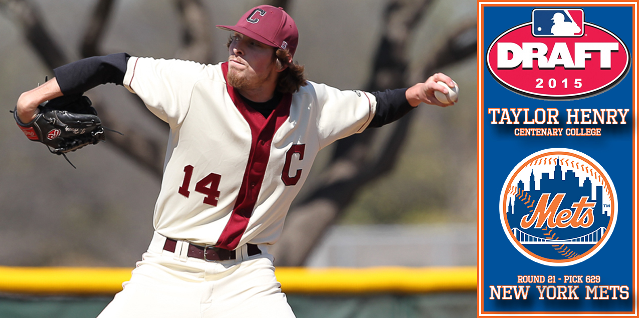 Centenary's Henry Taken in 21st Round of MLB Draft by New York Mets