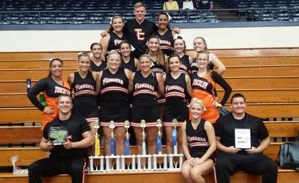 Tusculum Spirit Squad earns several awards at UCA camp