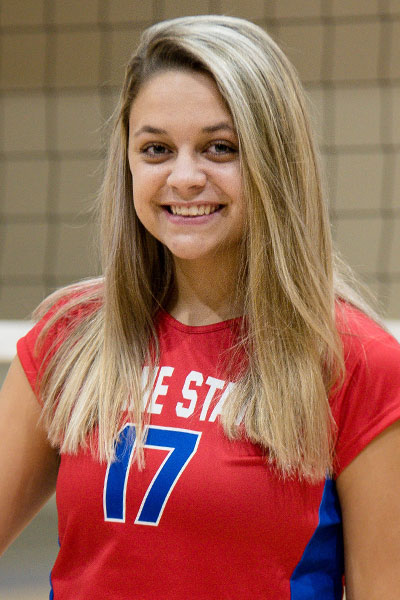 Lindsay Sterchi, Freshman Setter, Roane State, TCCAA Volleyball Player of the Week