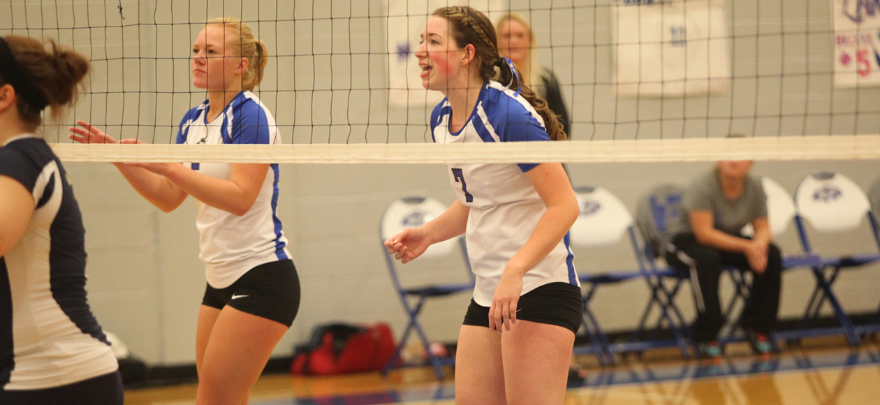 Volleyball Sweeps Tri Match With Lyndon State & UMPI