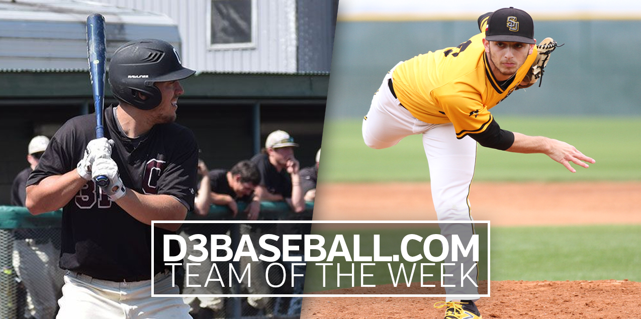 Centenary's Schimpf, Southwestern's Rice Earn D3Baseball.com Team of the Week Honors