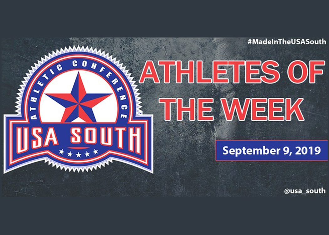 Lambert, LeBlanc and Bradley earn USA South Athlete of the Week honors